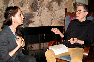 Betsy Warland manuscript consulting with a writer