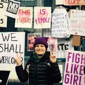 Eleni at Womans March