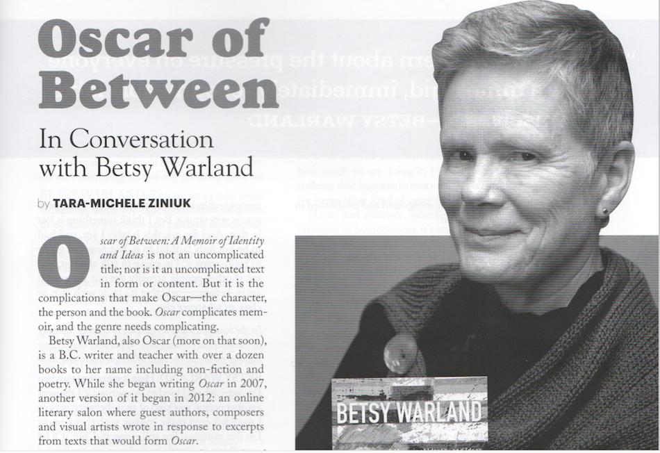 Herizons Interviews Betsy Warland