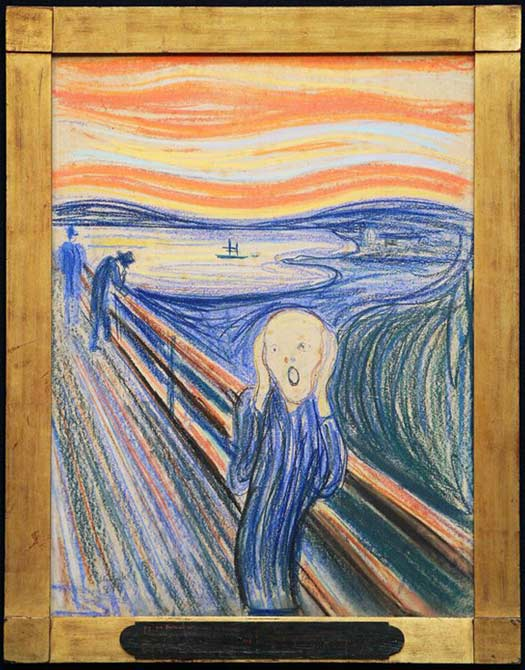 The Scream, pastel on cardboard, 1895