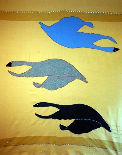 snow geese blanket