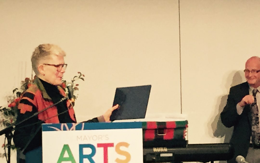 Betsy Accepts Mayor's Arts Award for Literature