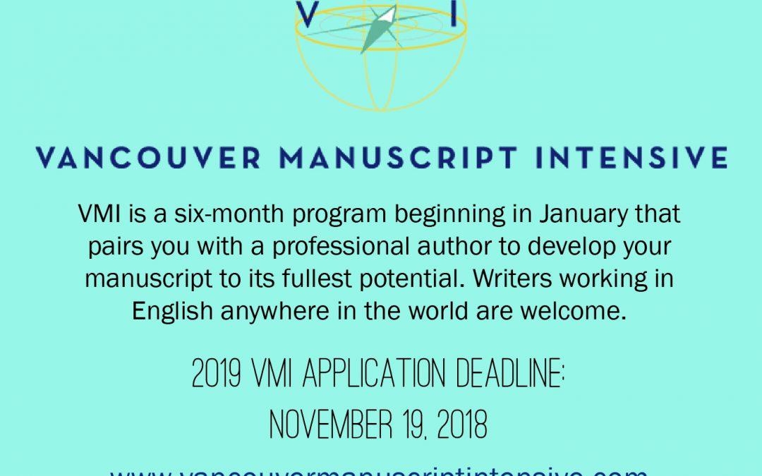 Vancouver Manuscript Intensive Accepting Applications