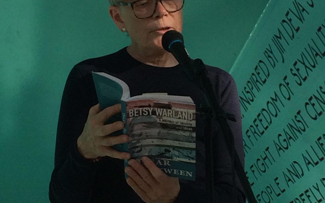 Betsy Warland at the Pride Reading Series