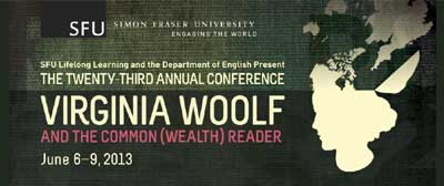 2013 Virginia Woolf Conference, SFU